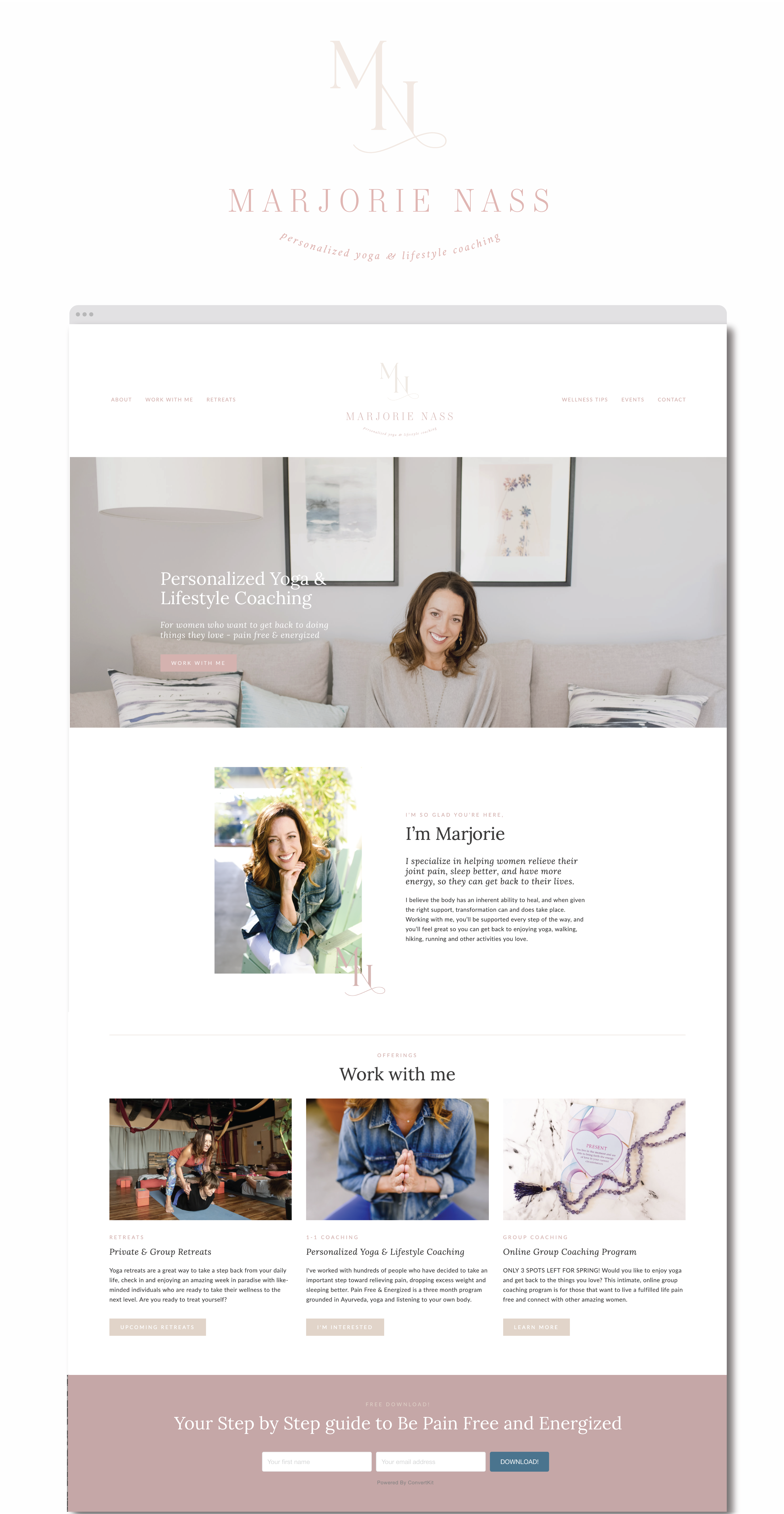 Personalized Yoga Lifestyle Coaching Yoga Logo Design Health Coach Branding Corporate Event Design