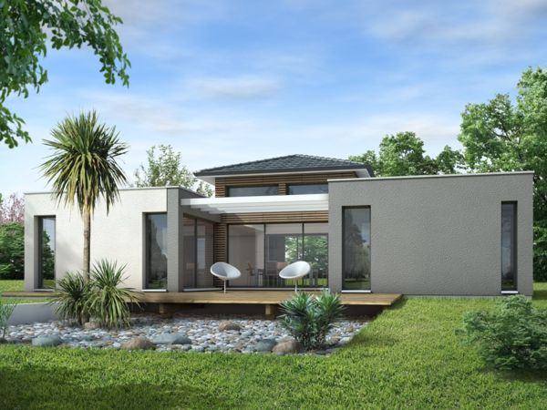 La maison plain pied moderne future maison maison plain pied maison et maison moderne - Modele de maison contemporaine plain pied ...