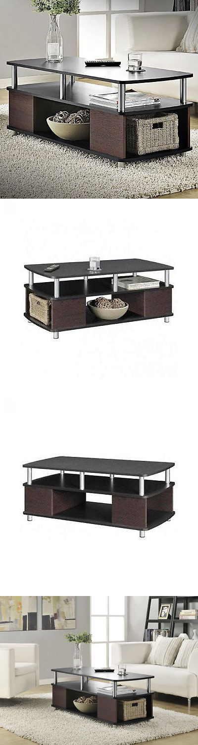 Tables 38204: Contemporary Coffee Table Cherry Black Living Room ...