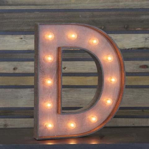 Edison marquee letter d town country event rentals
