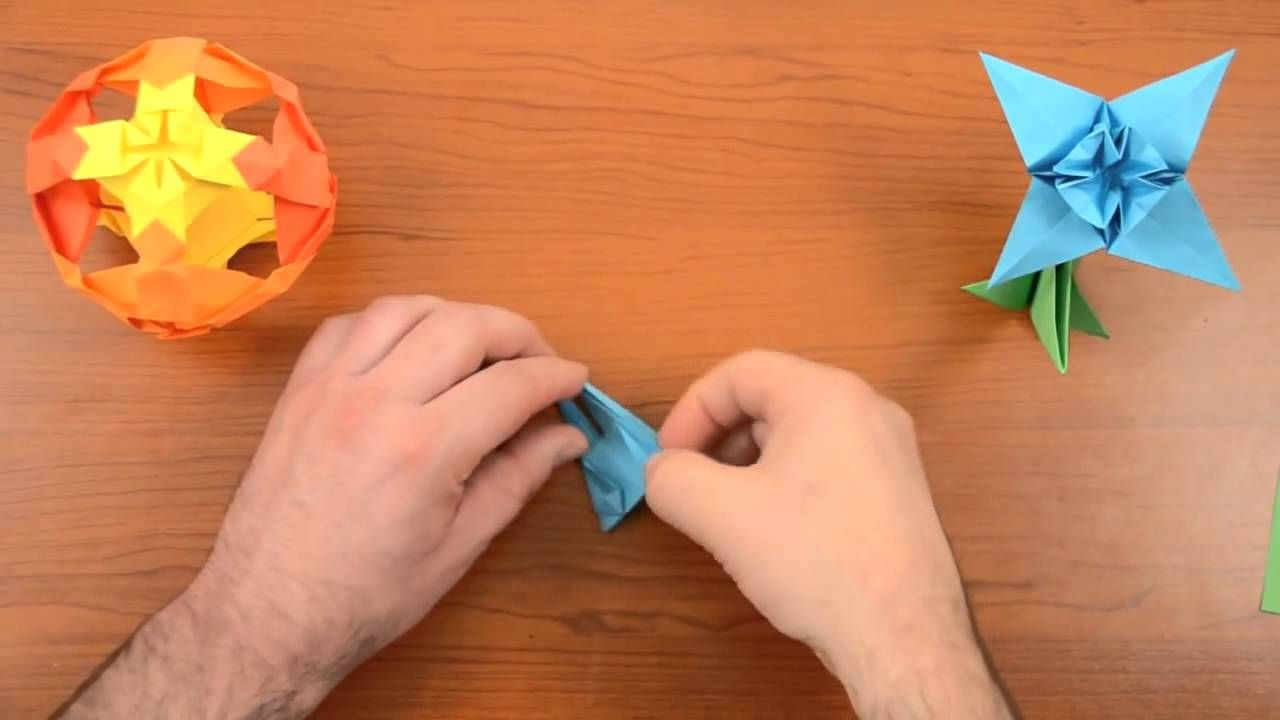 New Origami Flower Edelweiss Origami Tutorial Pinterest