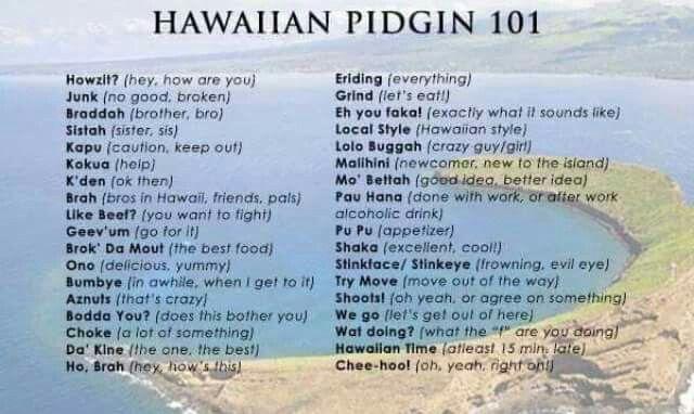Pidgin | Hawai'i in 2019 | Hawaiian quotes, Maui vacation, Hawaii quotes