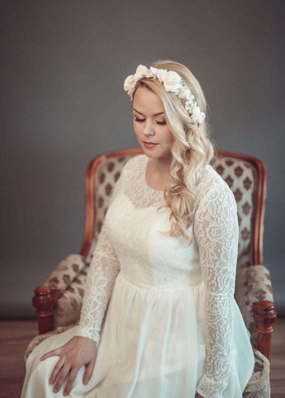 Bridal crown boho wedding wreath floral crown bridal headpiece bridal crown boho wedding wreath floral crown bridal headpiece ivory flower crown izmirmasajfo
