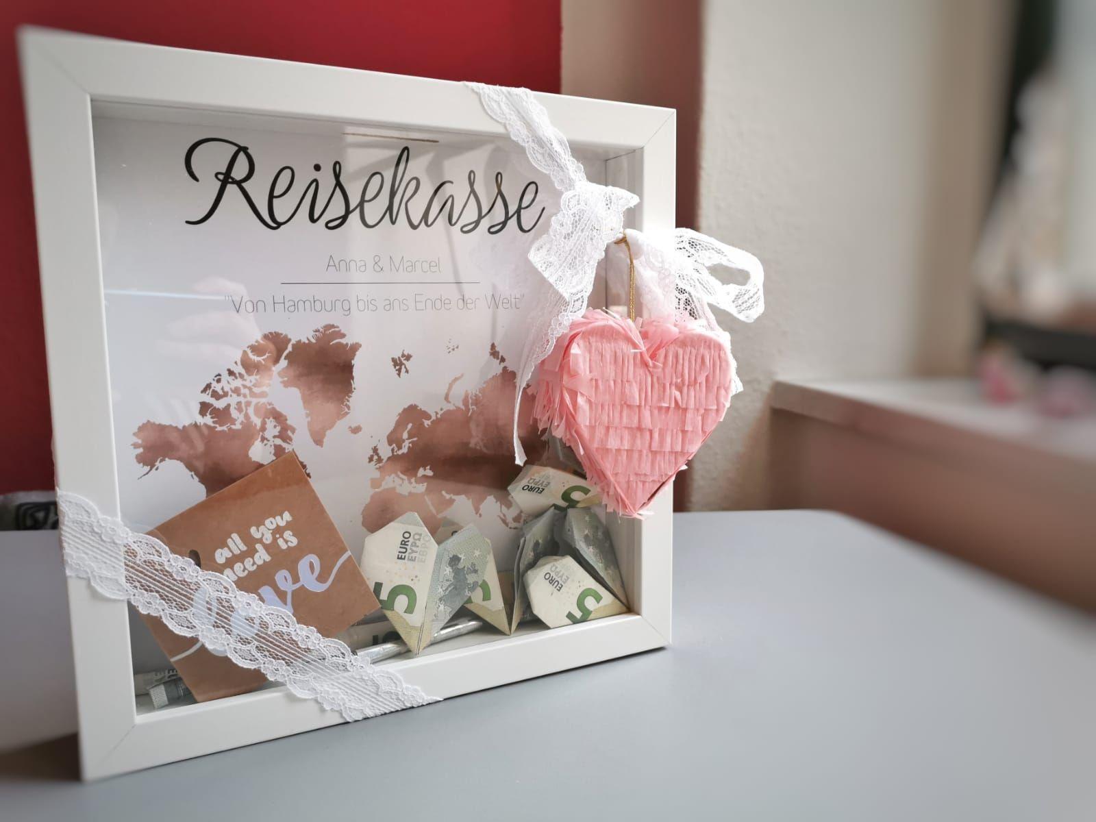 Reisekasse als Geschenk zur Hochzeit 🥰  Geschenk hochzeit