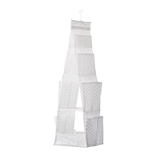 IKEA - PLURING, Hängande förvaring med 3 fack, Förvaringsfack på sidorna gör att du får ännu mer plats för småsaker.Går att använda var som helst i ditt hem, även i fuktiga utrymmen som badrum.Vill du hellre ha fickorna vända mot dig kan du ta bort galgen och hänga upp förvaringen PLURING med kardborreknäppningen i stället.