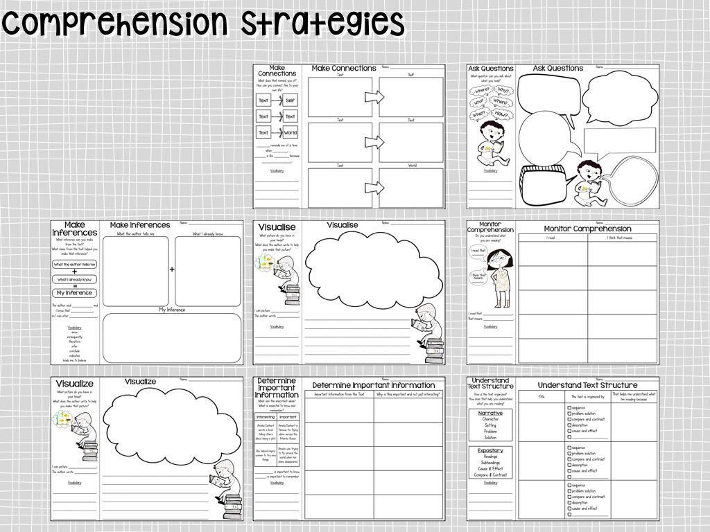Reading Comprehension Graphic Organizers