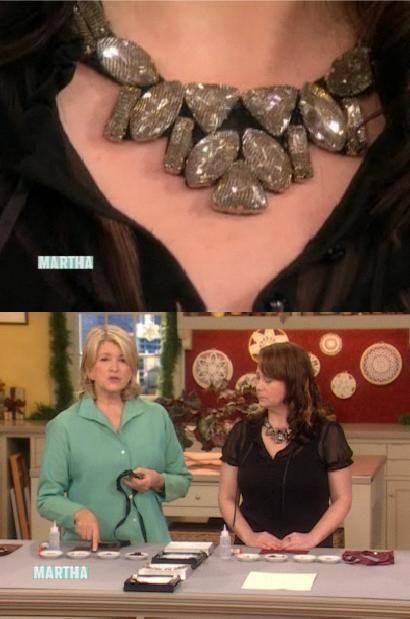 sew on stone bib necklace diy