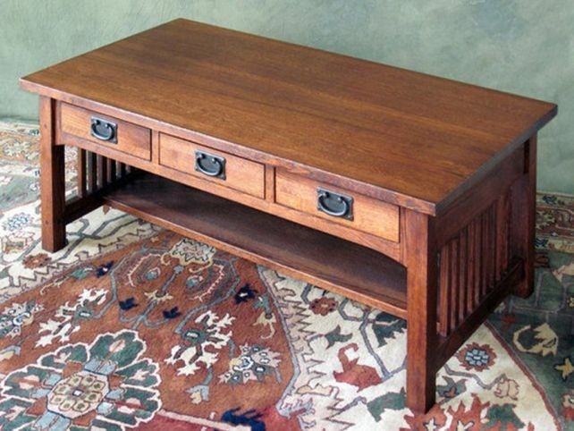 Mission style coffee table with drawers | ololoshenka | Pinterest ...
