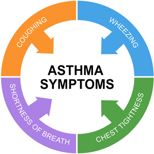 There are several signs and symptoms of Asthma. This article lists the exact signs and symptoms of Asthma.