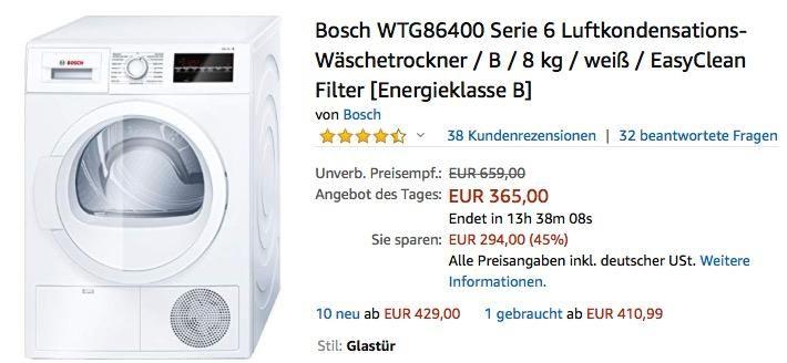 Bosch WTG86400 Serie 6 LuftkondensationsWäschetrockner 8