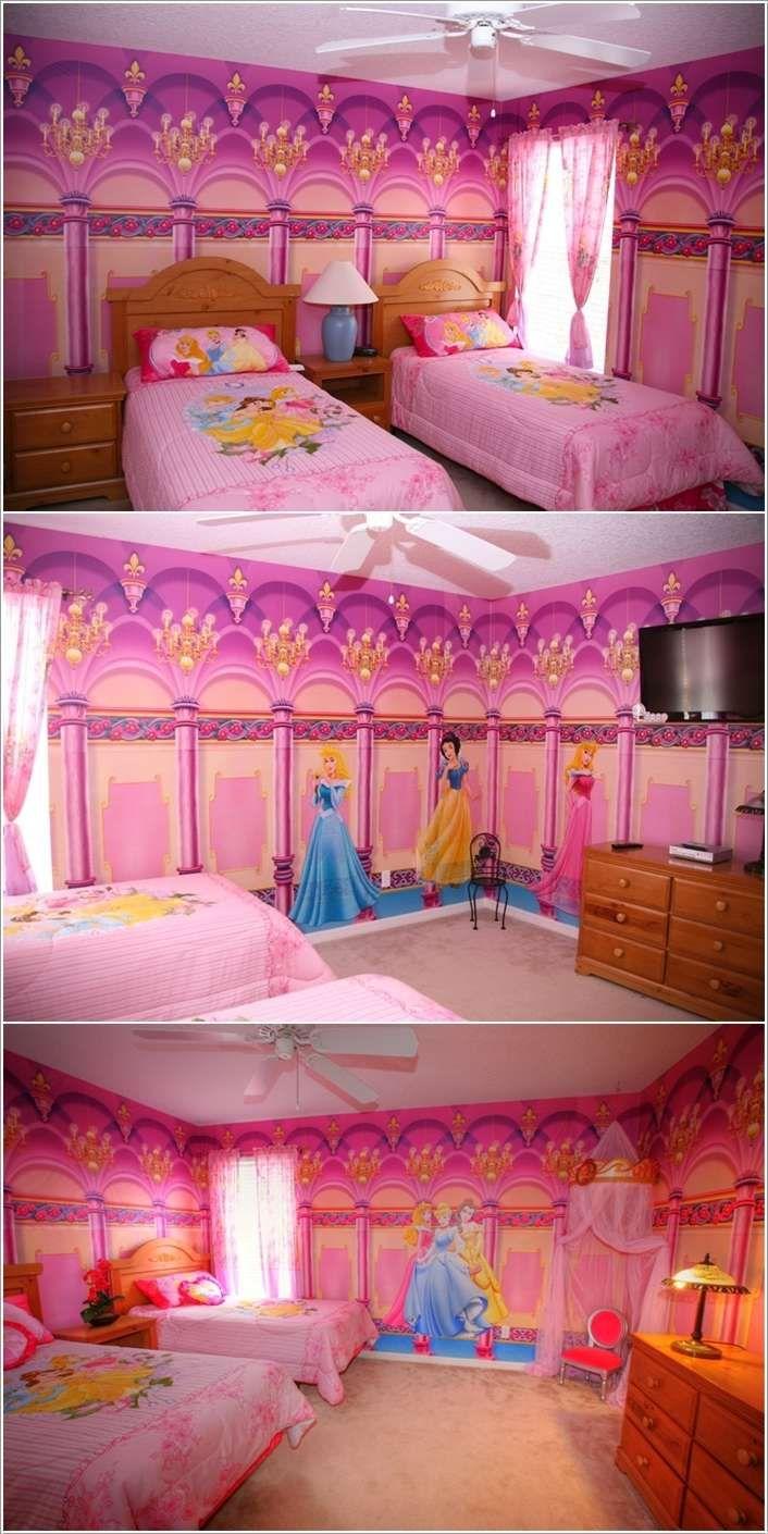 15 Lovely Disney Princesses Inspired Girls Room Decor Ideas Minimalist Kids Room Girls Room Decor Children Room Girl