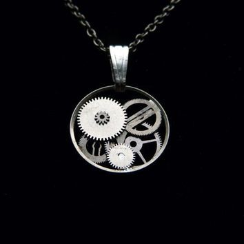 Clockwork Pendant Steeler Elegant Intricate by amechanicalmind