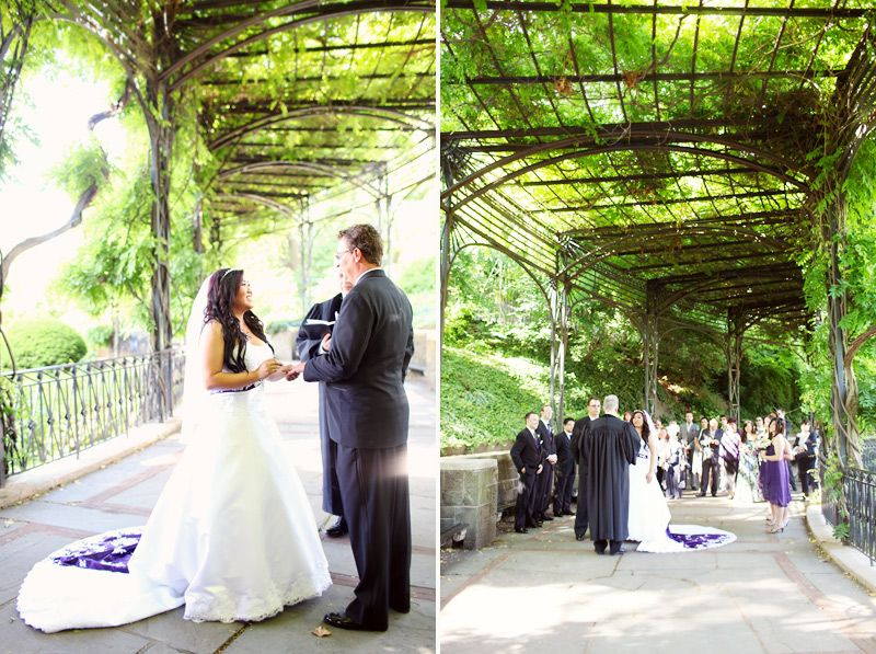 Getting Married Under The Pergola Of Italian Garden Within Central Park Nyc S Conservatory Gardens