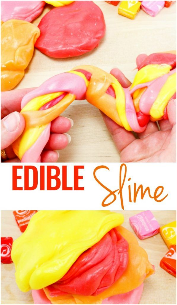 Starburst Slime - Edible Silly Putty Recipe #edibleslime