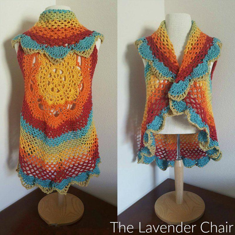 Starburst Mandala Circular Vest CAL | crochet | Pinterest