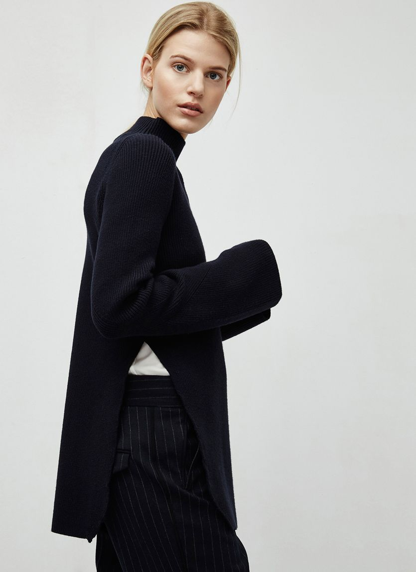 e60423bc7162a Jersey de punto con aberturas - color negro - Moda AD mujer - Adolfo  Dominguez…
