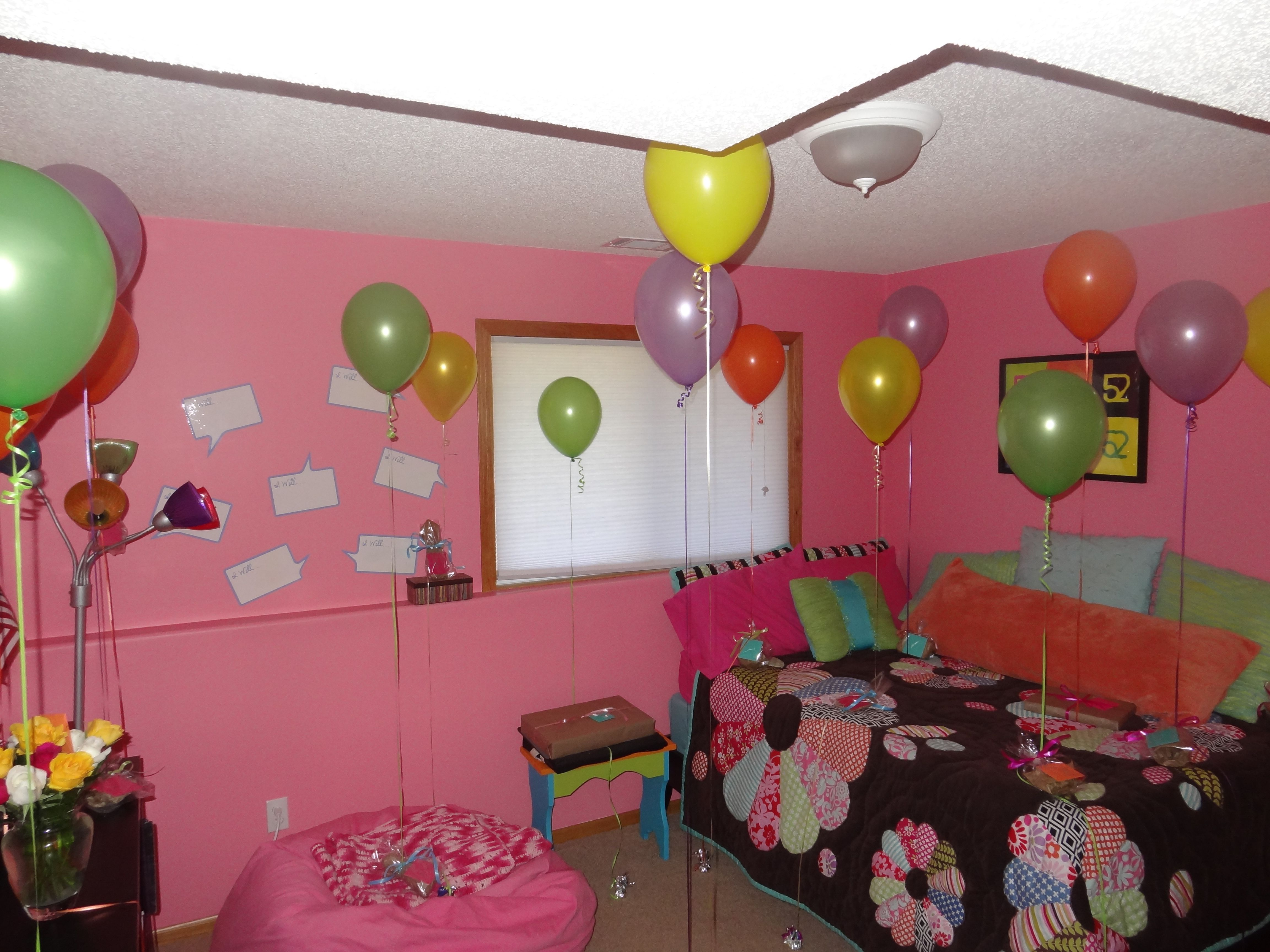 Surprise For 16th Birthday 16 Balloons Attached To Different Gifts Each Representing A Little Piece Of Advice Or Something I Want Her Remember