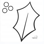 Siluetas de hojas de acebo – Dibujalia Blog