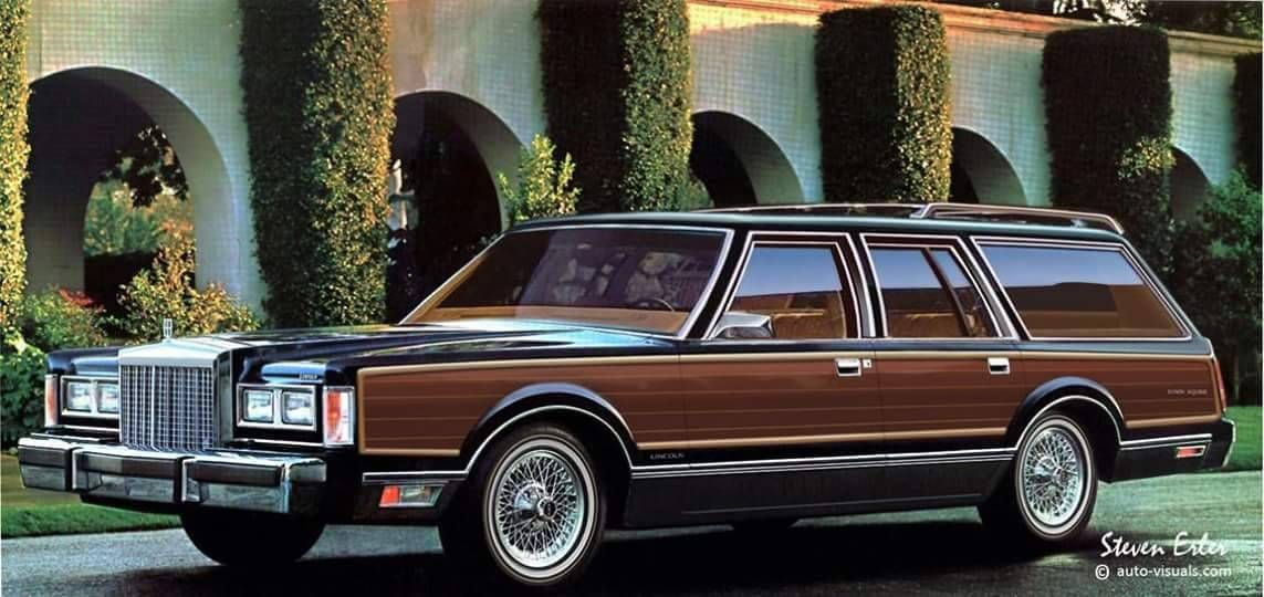 1988 Lincoln Continental Town Car Station Wagon Concept A Project
