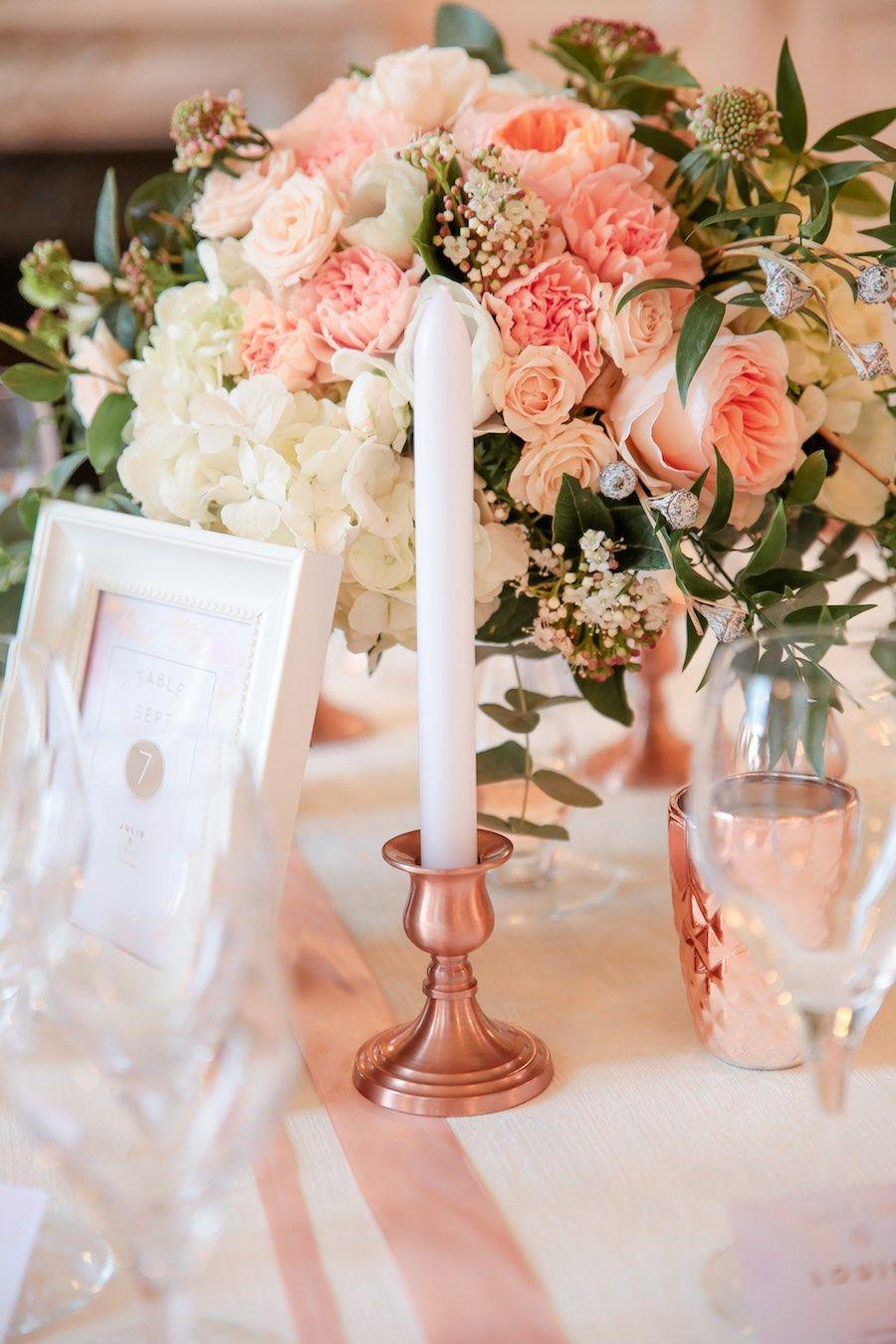 Idees Pour La Decoration D Un Mariage Rose Gold Mariage Rose