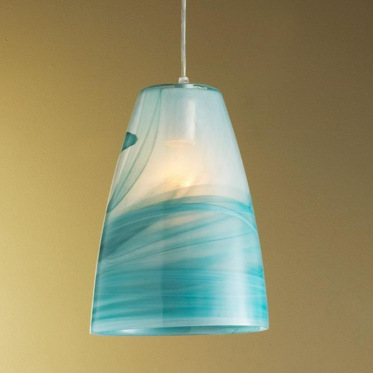 turquoise pendant light | Art Gallery Glass Pendant in ...