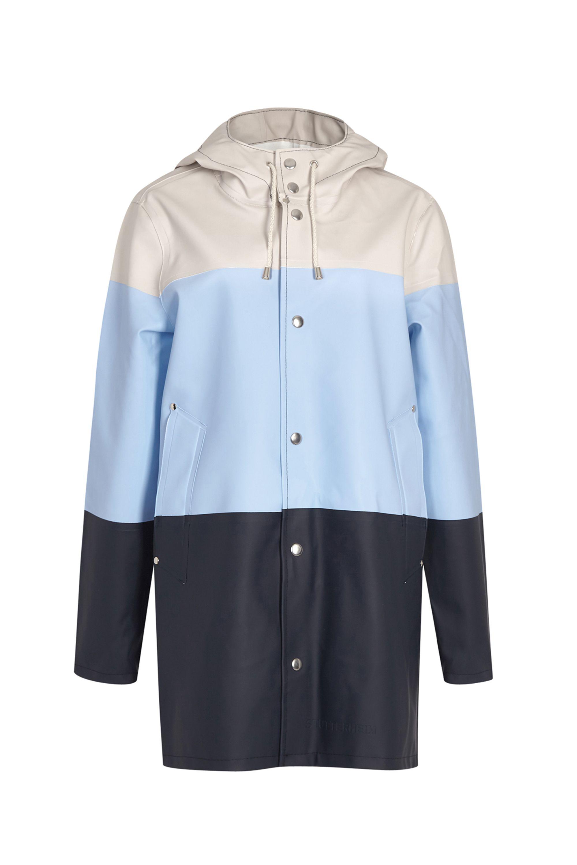 If you're going to wear a mac, make it this functional but fashion-forward one.  Stutterheim striped rubberised raincoat, £255, Harvey Nichols   - HarpersBAZAAR.co.uk
