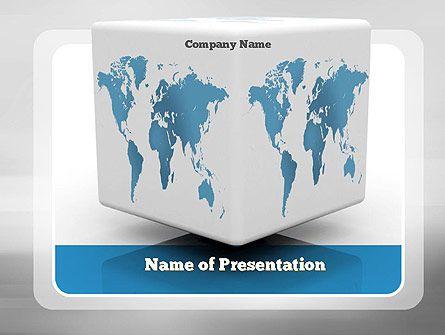 Httppptstarpowerpointtemplatecube world map cube cube world map presentation template gumiabroncs Gallery