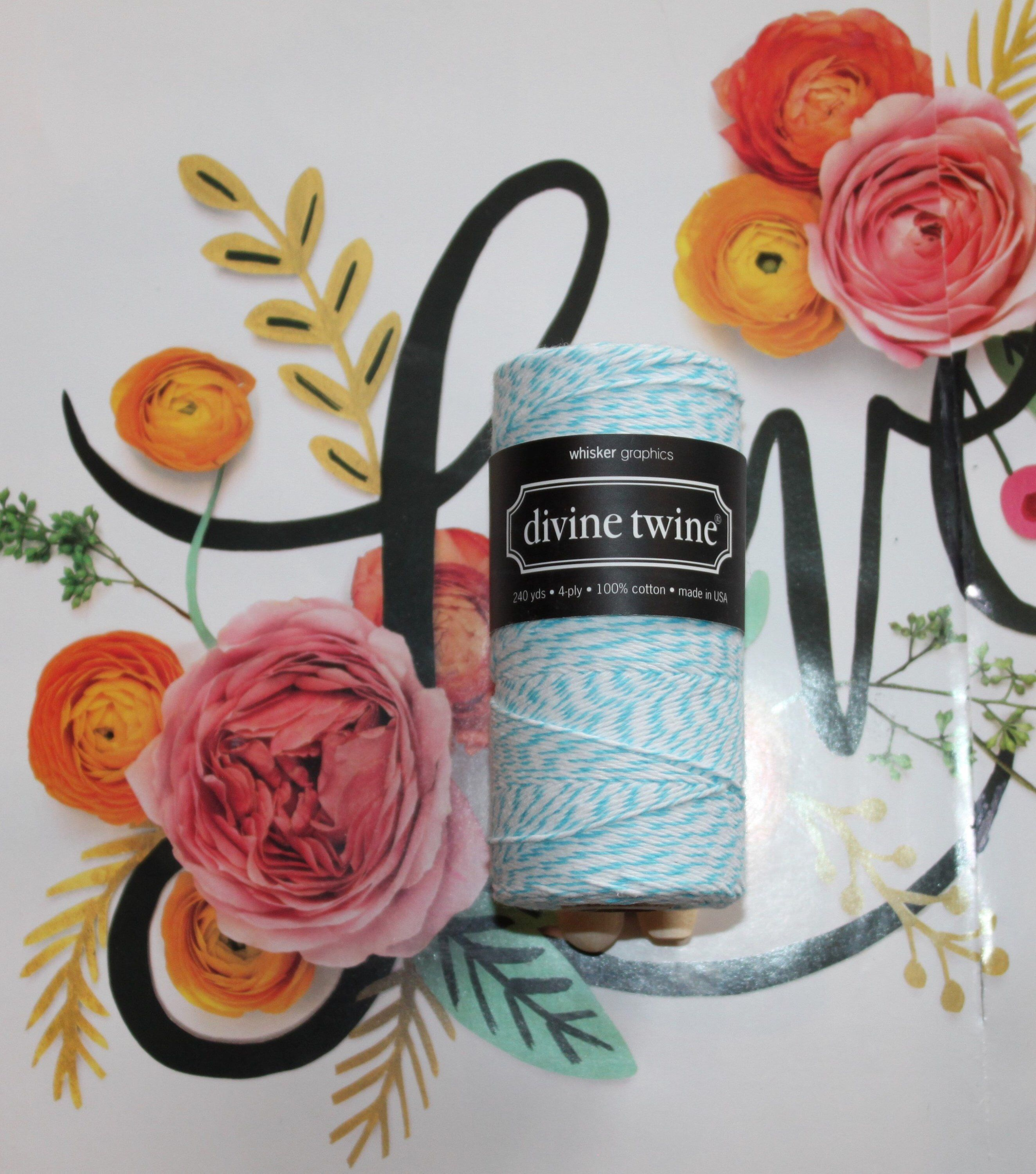 Aqua Divine Twine™ Bakers Twine, Gift Wrap, Crafts, Belly