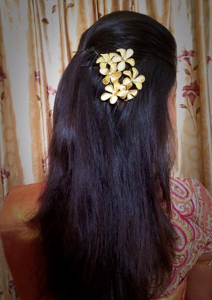 Indian Bride S Bridal Hairstyle Hairstyle By Swank Studio Find Us At Https Www Facebook Com Swank Long Hair Styles Wedding Reception Hairstyles Hair Styles