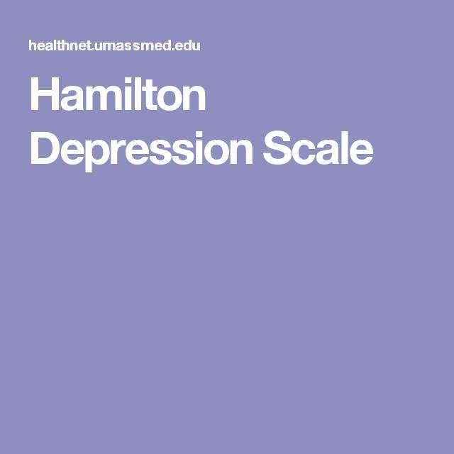 Hamilton Depression Scale