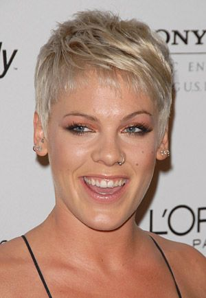 Pin By Katie Gray On Hair Trendy Short Hair Styles Pink Haircut Pink Singer