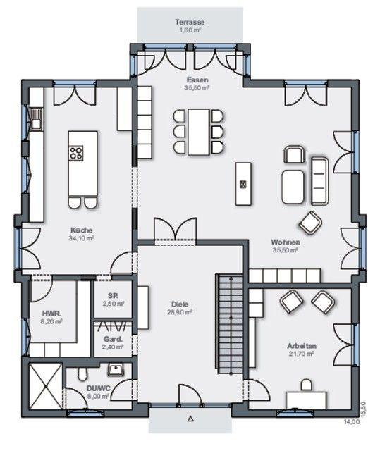 Haus Detailansicht   – Häuschen grundrisse