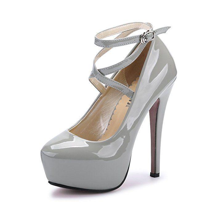 c894f6254a8 Ochenta Modernos 16.5CM Zapatos de Tacón de Aguja con Plataforma