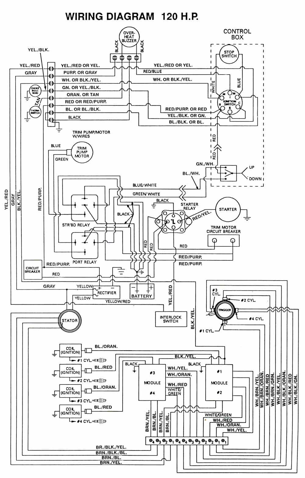 image result for wiring diagram for 1990 mercury force 120 hp outboard motor  | outboard, outboard motors, diagram  pinterest