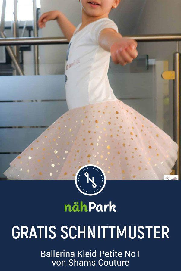 Kleid für kleine Ballerinas selber nähen. Freebook zum Download.