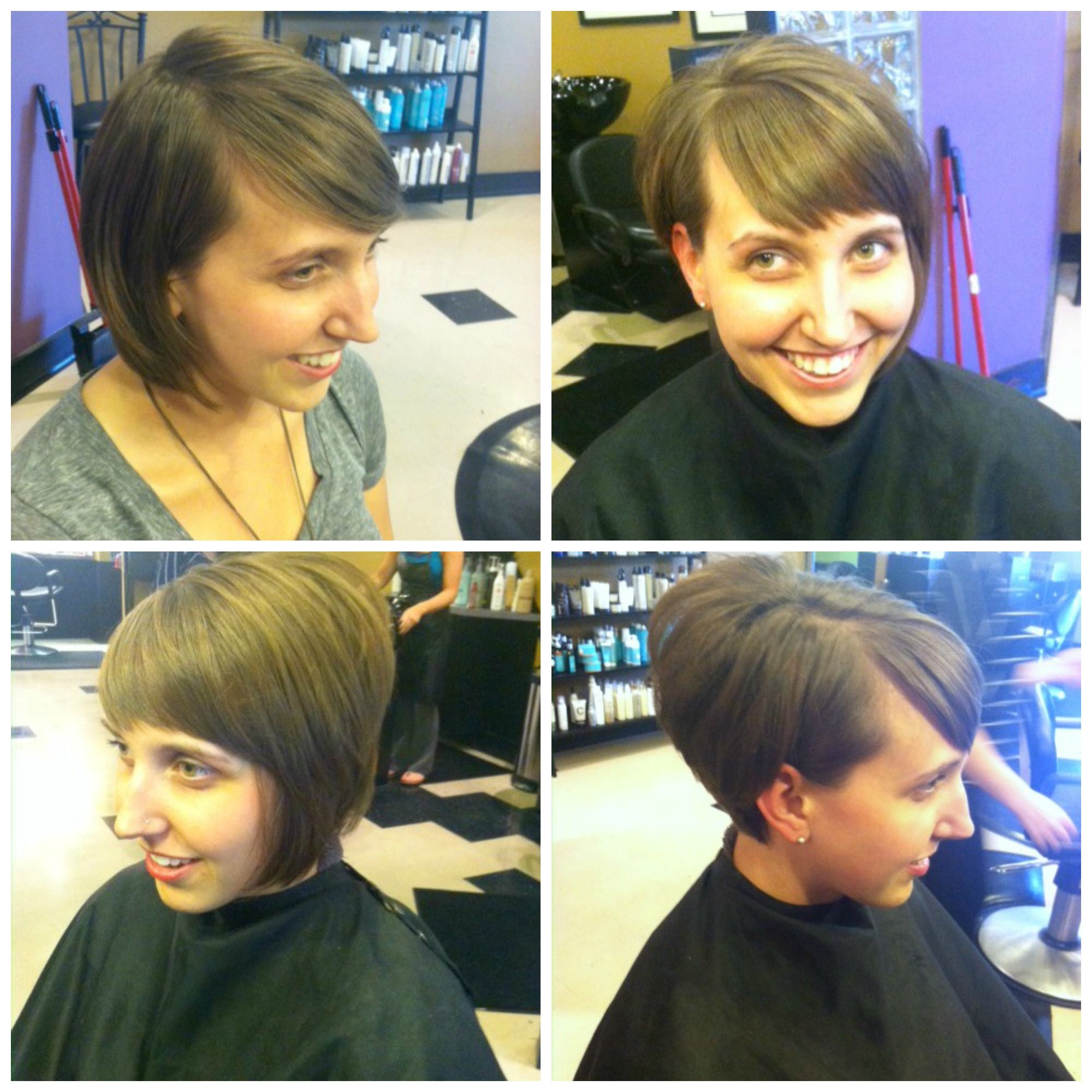 Adorable Asymmetrical Haircut By Jamie At Avantgarde Salon Spa In