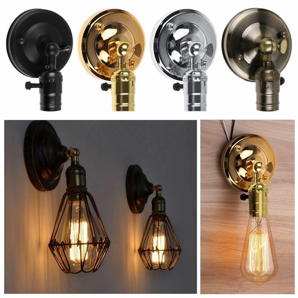 E27 Retro Vintage Edison Metall Wandleuchte Stil Eisen Kunst Wandlampe Leuchte Ebay Vintage Wall Lights Wall Sconce Lighting Wall Lights