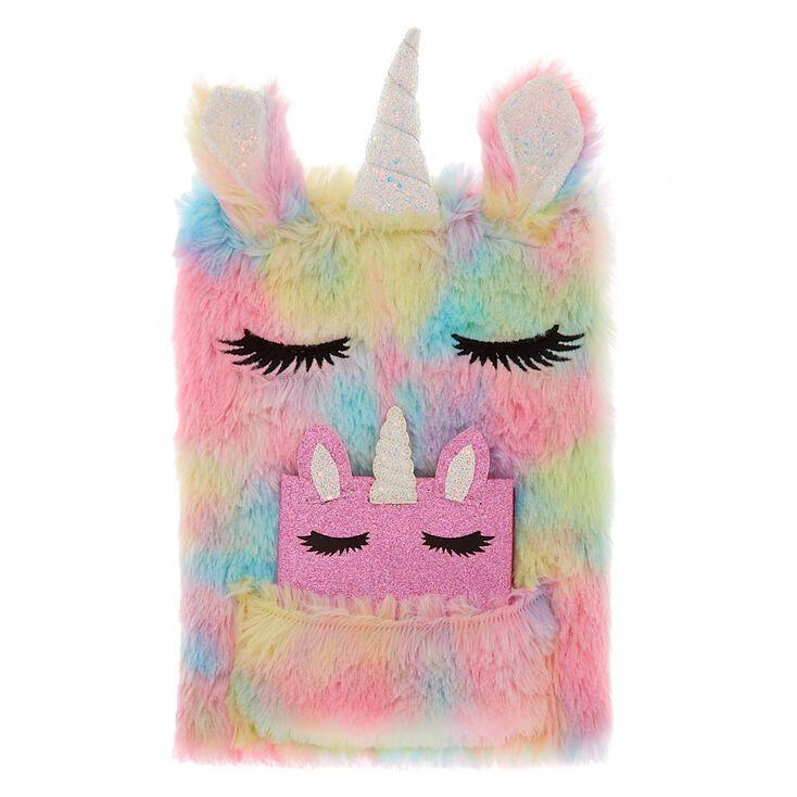 Pastel rainbow unicorn plush sketchbook set 2 pack