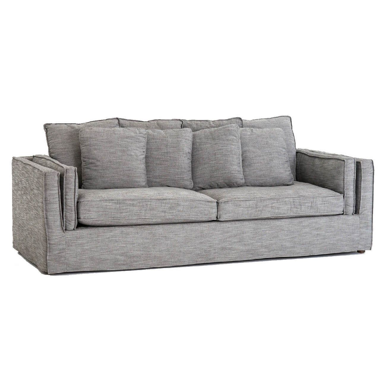 Dark Grey Slip Cover Sofa