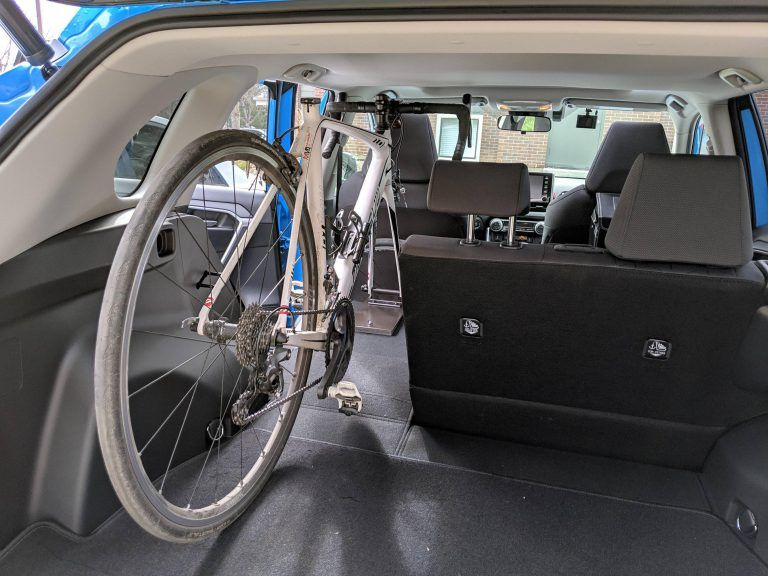 Made A Bike Rack So I Could Mount My Road Bike Inside The Car With