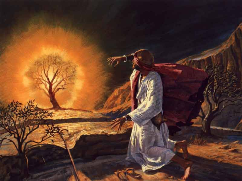 Image result for God Appeared to Moses in Burning Bush. Painting from Saint Isaac's Cathedral, Saint Petersburg
