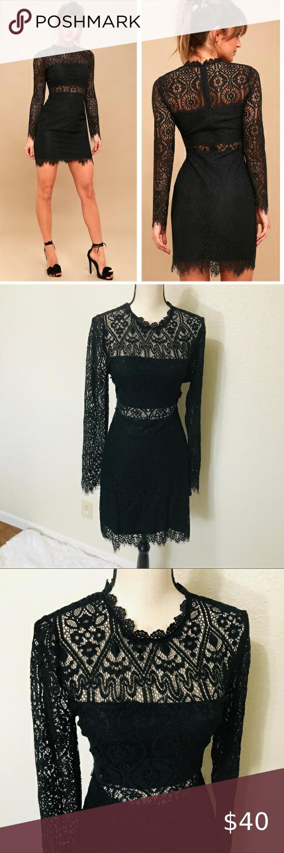 Lulu S Appetite For Seduction Black Lace Dress Black Lace Long Sleeve Dress Long Sleeve Lace Dress Lace Dress [ 1740 x 580 Pixel ]