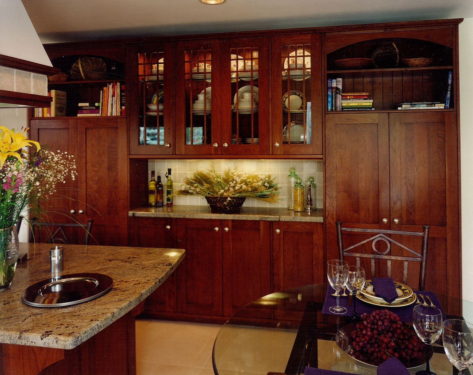 Kitchen Cabinets Solid Wood Construction Custom Made Arts And Crafts Kitchen Remodel Of Cherry Wood
