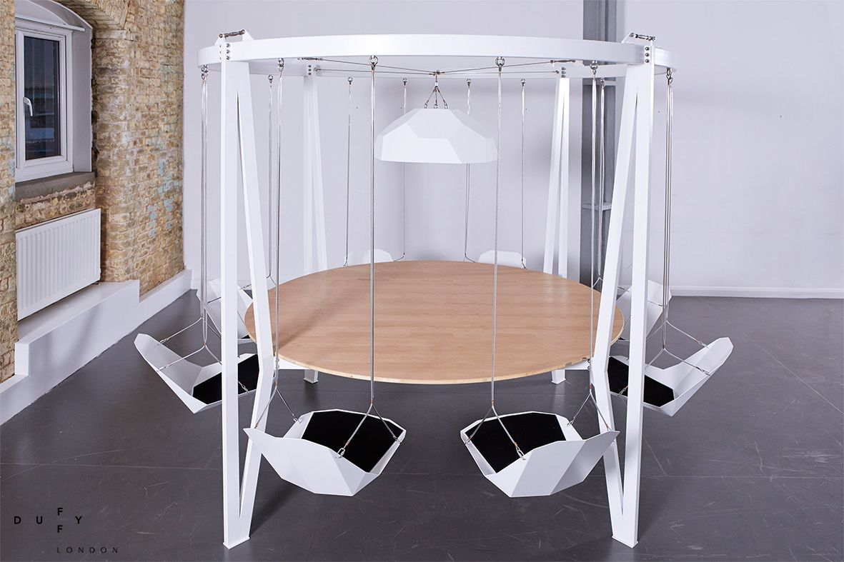 Round swing table king arthur by duffy london ideas for the house