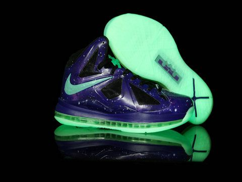 Cheap Sale Nike Air Max Lebron X Low Blue Yellow 541100 001