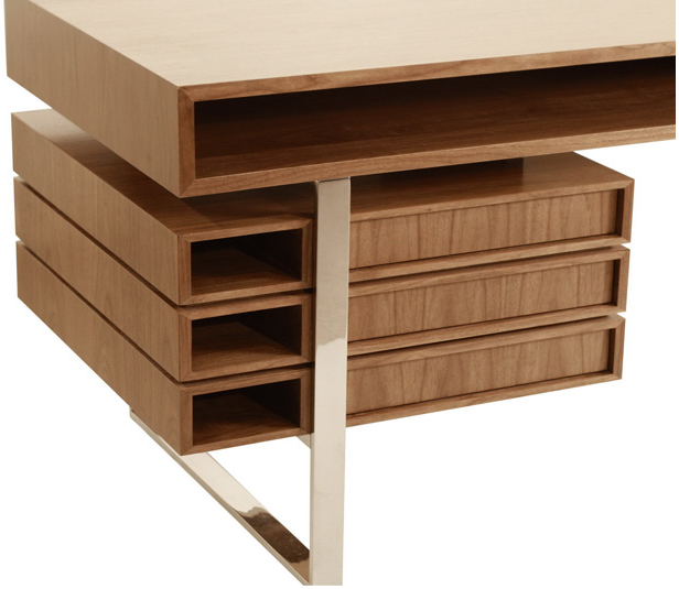 Maple Wood Boxeo Desk By Cliff Young, Cliff Young Furniture