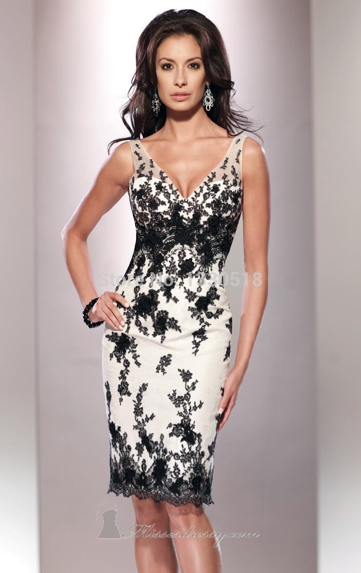 Free shipping v neck lace sheath mother of the bride dresses with