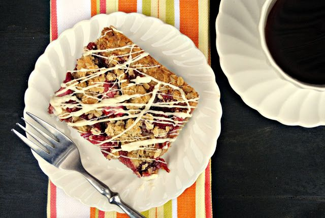 Simply Scratch » Strawberry Streusel Bars with White Chocolate Drizzle