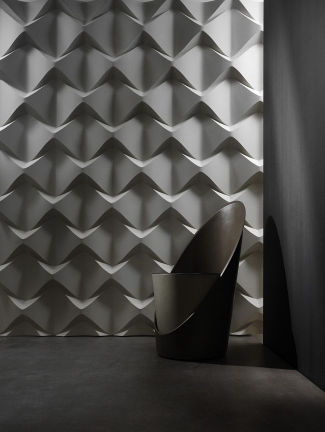Paneele Wand Geometrische Motive Verspielt Caos Dreidimensional Lichteffekte Wandtafel Design Strukturierte Wand 3d Wandplatten