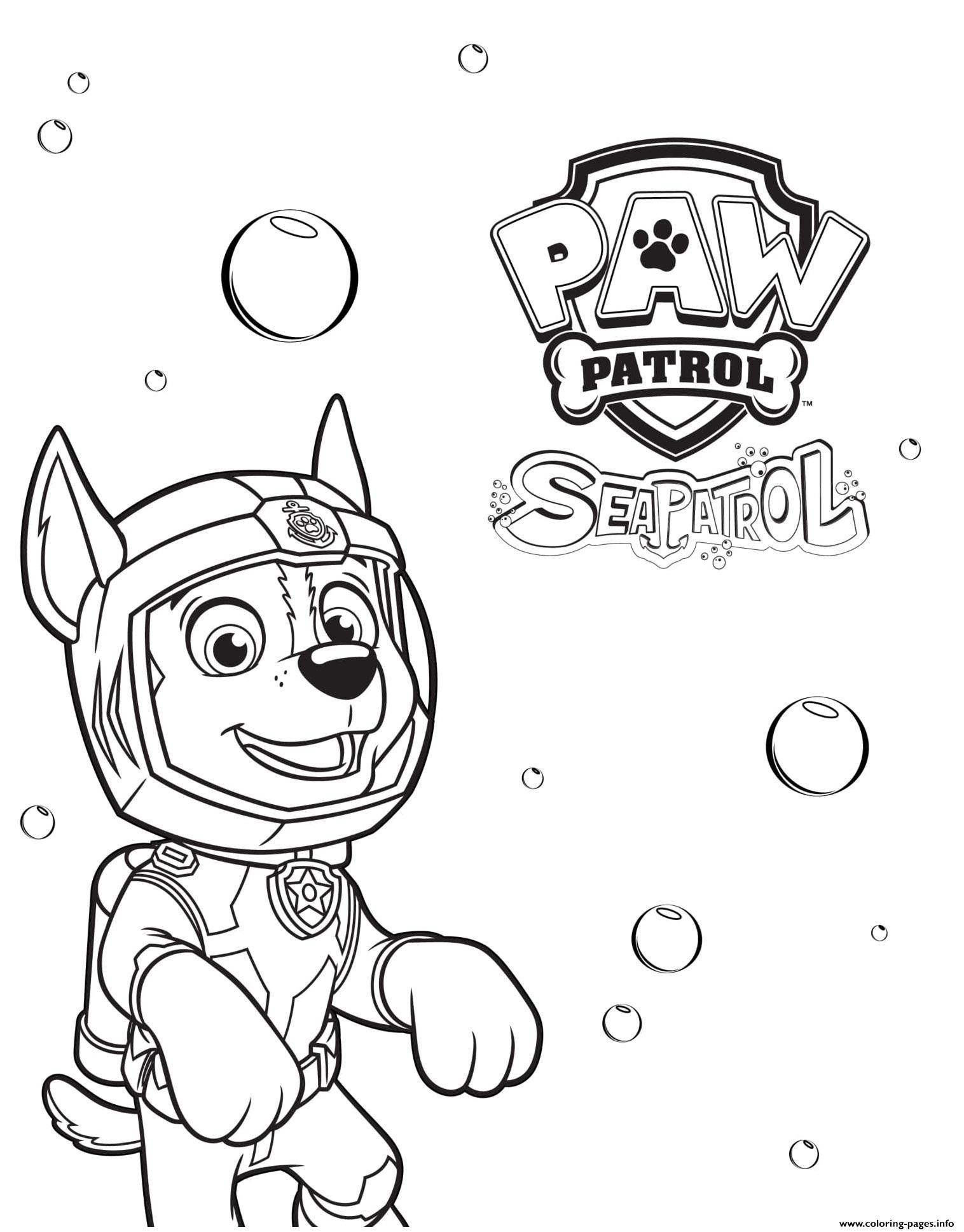 28++ Chase paw patrol coloring page ideas